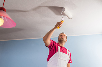 covering a water stain in ceiling
