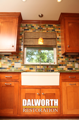 Kitchen remodel in Bedford by Dalworth Restoration