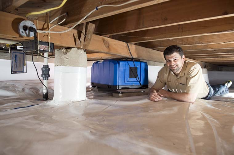 Crawl Space Encapsulation By Dalworth Restoration In The
