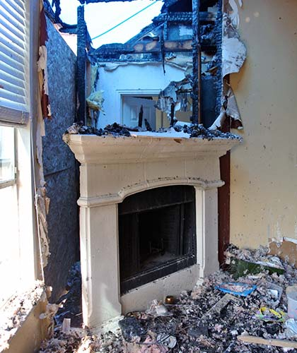 Dalworth Restoration Assesses Fire Damage to a home in Dallas-Fort Worth