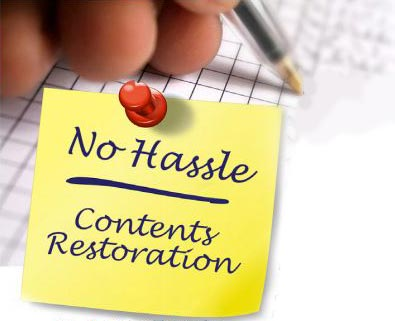 no hassle contents restoration note