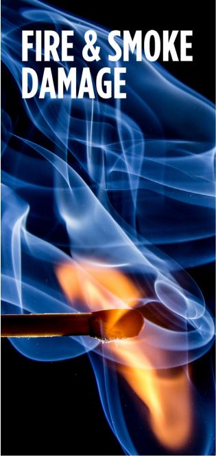 fire and smoke from a burning match on a blue background