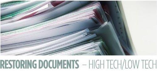 a photo of a large stack of documents