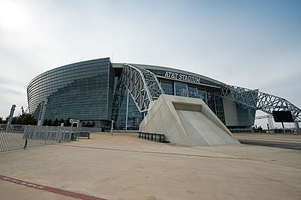 The AT&T Stadium is home to the Dallas Cowboys but also hosts a multitude of events in Arlington, TX.