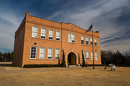 The Old Bedford School in Bedford, TX is a historical landmark now used as a rental facility.