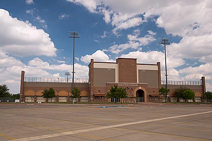 The Burleson, TX high school football stadium is home of the Burleson Elks and Centennial Spartans.