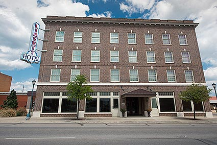 The 1924 built Liberty Hotel is a historic hotel that has been completely renovated in downtown Cleburne, TX.