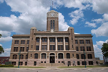 The Johnson County Courthouse is located in Cleburne, TX.