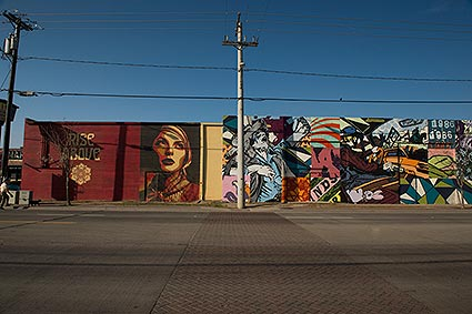 Large graffiti art murals on walls and buildings in Dallas remind us why the city is the largest urban arts district in the nation.