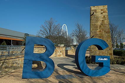 Dallas Big is an innovative campaign using 6 foot fiber glass letters strategically placed across Dallas to remind people that 'Big Things Happen Here.'