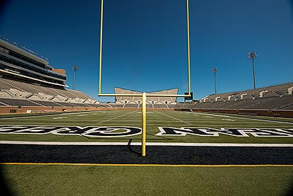 The UNT Apogee football field is home to UNT's Mean Green football team in Denton, TX.