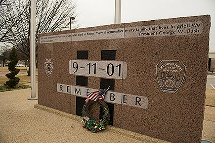 A 9-11 memorial to remember fallen soldiers at the World Trade Center was built in Euless, TX after the city gained ownership of a World Trade Center artifact.
