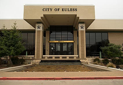The Euless, TX City Hall building.