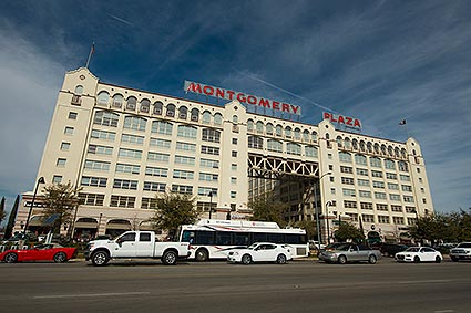 The Fort Worth, TX iconic Montgomery Ward building is now home to Montgomery Plaza housing retail businesses and residential condominiums.