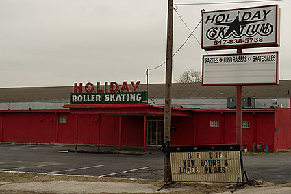 The Holiday Skatium in Haltom City, TX is an old roller skating rink.
