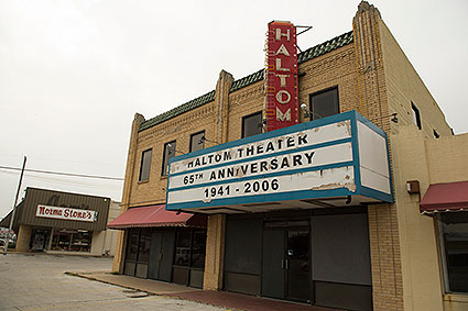 The old Haltom City, TX Theater closed in the 1960's and has been used for various events and retail facilities ever since.