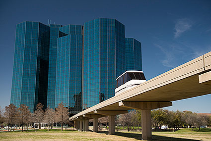 The Las Colinas Area Personal Transit System is a people mover for residents and workers in Irving, TX to avoid traffic and get to other places in the area in a quick and efficient manner.