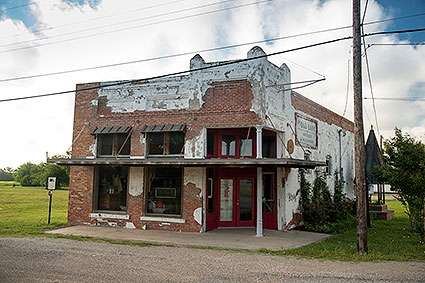 The Old Bank and Antiques store is the one building that has remained in downtown since the beginning of the area's population growth in Lavon, TX.