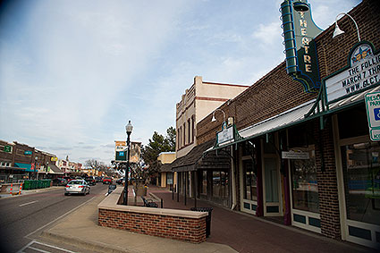 Downtown Lewisville, TX is focused around Main Street's Town Square.