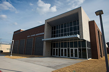 The Leo C. Stuver Auditorium is the 1,500 fixed-seat auditorium for Lewisville, TX High School's fine arts programs.