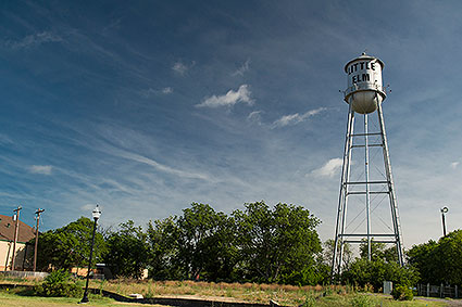 A vintage water tower in Little Elm, TX.
