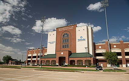 The Mansfield ISD Vernon Newsom Stadium is the stadium serving Mansfield, TX high schools and home to the Mansfield Tigers, Summit Jaguars, Timberview Wolves, Legacy Broncos, and Lake Ridge Eagles.