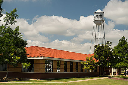 A vintage water tower in Rowlett, TX.