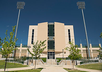 The Lumpkins Stadium is the athletic home to the Waxahachie, TX Indians.