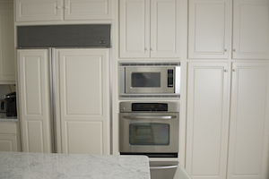 Refrigerator appliance in kitchen