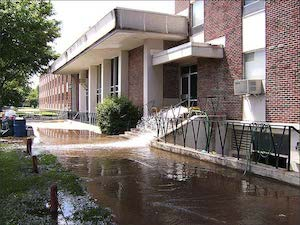 Flooding damage to Northeastern Oklahoma A&M