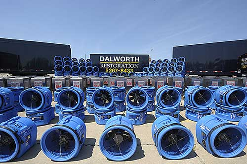 Dalworth Restoration truck and drying equipment